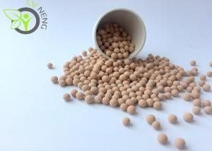 China Beige Molecular Sieve 3a Water Adsorption Capacity For Natural Gas Dehydration on sale
