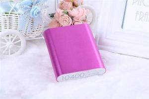China High Capacity Rechargeable Portable Power Bank USB For Smartphones 10400 Mah on sale