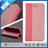 China Pink Elegant PU leather folio stand flip iPhone 6 Plus Protective Case cover on sale