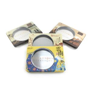 China collective rectangular DVD tin box with window on sale