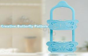 China Blue Butterfly adhesive removable wall hanging hooks with Big Sucker on sale