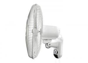 China White Hyroponice Grow Room Electric Wall Fan Pull Chain 90 Degree Copper Motor on sale