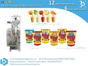 China Automatic Liquid Ketchup paste shampoo fruit Juice water tomato Sauce Sachet Packing Machine on sale