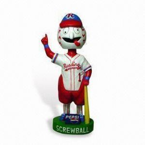 China Funny Polyester Artificial Epoxy Resin Ctafts Baseball Player Bobble Head for Collectible on sale