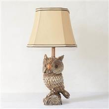 China TRF100009 10 inch Owl base fabric lampshade table lamp on sale