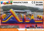 Commercial PVC Tarpaulin Inflatables Obstacle Course / Inflatable Sport Games