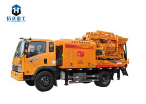 China Self Loading Truck Mixer Pump / Concrete Mixer Truck Italy Manuli Tube on sale