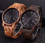 Auto Date Wooden Watches OEM Men Wrist High Quality Japan Movement Quartz Watch