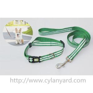 China Wholesale custom woven lanyard dog collar and dog lead gift sets, quality pet products, on sale