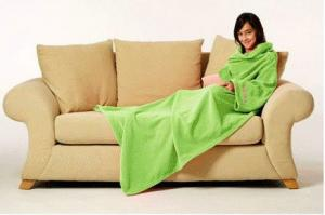 China Coral Fleece Blanket With Sleeve , Soft Home Coral Blanket 150X200CM on sale