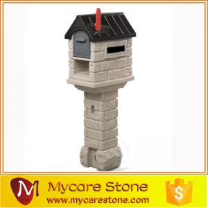 China Garden sculpture crafts stone lovely post box on sale on sale