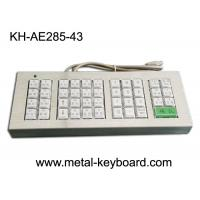 China Customized 43 Buttons Metal Kiosk Keyboard, Stainless Steel Vandal Resistant Dust Proof on sale