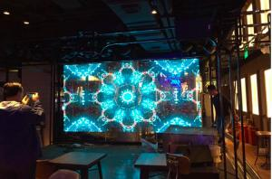 China Commercial Indoor Transparent Led Mesh Screen Shopping Mall Advertising on sale