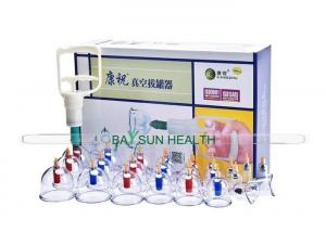 China KZ-B1-24 Kangzhu Cupping Set with Pump -Set of 24 cups + 20 Magnetic Probes on sale
