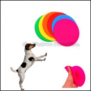 China customed logo promotional Eco Silicon dog training flying disc saucer frisbee gift on sale