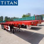 Tri axle 20ft 40ft container high bed flatbed logistics trailer