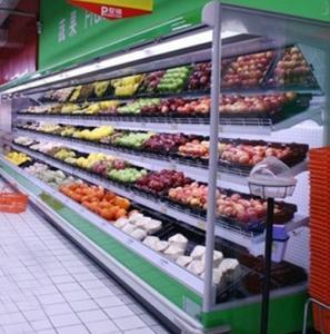 China Vegetable / Milk Upright Multideck Open Chiller 2 Degree With Vertical Curtain Chiller For Energy Saving on sale