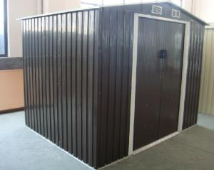 China Apex 12x10 / 10x10 / 10x8 Metal Tools Storage Garden Shed With Double Swing Doors on sale