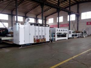 China Professional Flexo Corrugated Machine Gluing Bunlding Line PLC Control System on sale