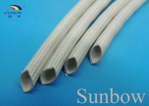China Extruded Silicone Rubber Tube Reinforced With Non Alkaline Fiberglass Braid on sale