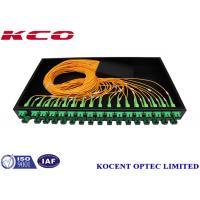 Low Insertion Loss Fiber Optic Splitter Patch Panel Termination Box SC/APC ABS Box 1U
