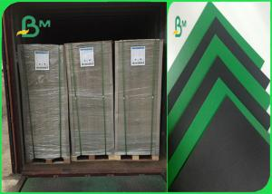 China 1.2mm Green / Black Colored Moistureproof Cardboard Sheets For Lever Arch File on sale