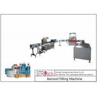 Rotary Automatic Aerosol Gas Filling Machine Capacity 3600CPH For Butane Gas