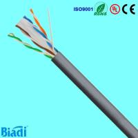China Cat 6 network cable U/UTP solid cu consists of 100 ohm impedance on sale
