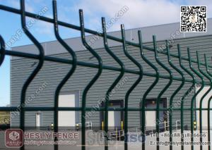 1.8m height X 3.0m Width PVC coated Welded Wire Mesh Fence Panels ...