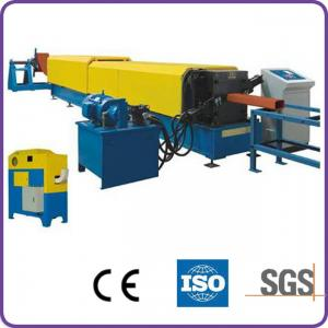 Quality 7.5kw Main Motor Power Downspout Roll Forming Machine Controlled by PLC Consists of Protec for sale