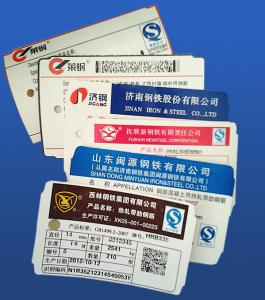 China paper tags for steel product on sale