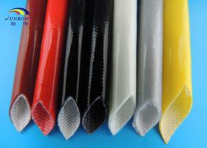 China Self-extinguishable Silicone Fiberglass Sleeving Multi Color Silicon Tubing Insulation Sleeve supplier