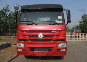 China Heavy Duty HOWO Tractor Head Truck With 420 HP Engine And Single Sleep Bed on sale