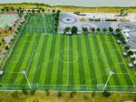 Diamond Plus Outdoor Fake Turf Grass For Sports Field Anti UV Stem Shape
