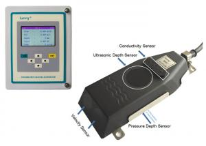 China Ultrasonic open channel flow meter 6537 with conductivity for open channel or river on sale