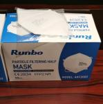 Runbo Brand CE Certificate Antiviral FFP2 Dust Mask Disposable Customized Size