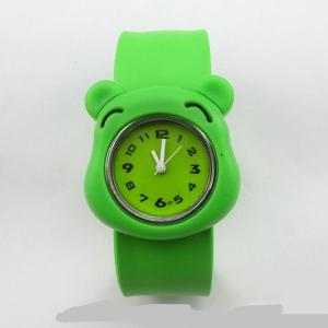 China Fashion quartz mickey silicone slap watch for kids Christmas watch on sale