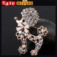 Cute Crystal Colorful Sheep Brooch , Metal Animal Pins and Brooches Sheep Wholesale