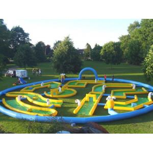 China Popular Crazy Inflatable Sports Games , Inflatable Golf Race Field For Event on sale