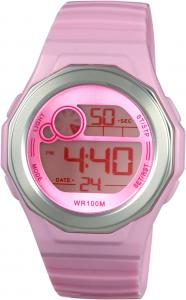 China Round Women Digital Watches With EL Light And 100m Water Resistant on sale