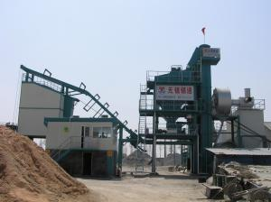 China Side Type 60T Finished Product Bin All Asphalt Mixing Plant With 16 Ton Asphalt Storage Tank on sale