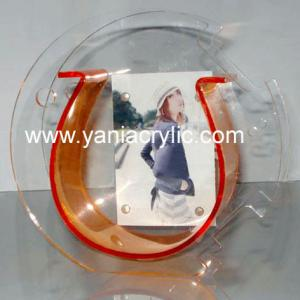 China Luster Light Transparency Plexiglass Cutting Acrylic Fish Bowl With Photo Frame For Home on sale