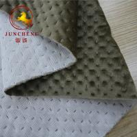 China 2018 new design ultrasonic quilted knitted velvet fabric on sale