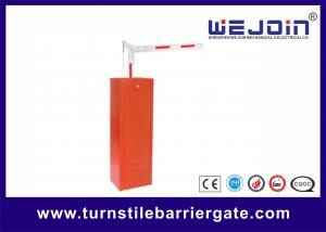 China AC220V Parking Barrier Gates With Aluminum Alloy Motor and Red Color Cabinet on sale