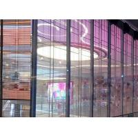1R1G1B P12mm High Transparent Glass Wall LED Screen For Shop Advertising