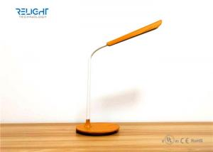China Wooden Grain Led Desk Lamps  with Eye-Protected and USB Output Charging Port on sale