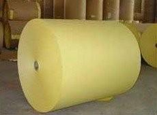 China best quality yellow siliconized release paper jumbo roll on sale