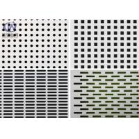 Openning Mild Steel Filter Mesh Perforated Metal Plate / Punched Hole Metal Sheet