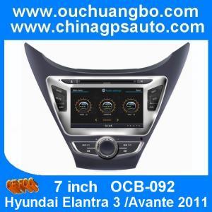 China Ouchuangbo S100 Platform for Hyundai Elantra 3 /Avante 2011 with Car Audio Stereo GPS Navigation OCB-092 on sale