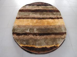 China Oval Polyester Shaggy Mixed Shaggy Carpet Stripe Shaggy Rug on sale